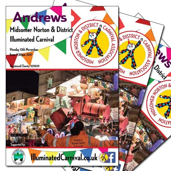 Illuminated Carnival Programme Advert